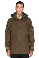 Nlst Wool Tech Parka Olive