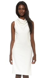 Milly Cowl Neck Sheath Dress White