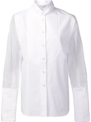 J.W.Anderson Sheer Longsleeves Shirt White