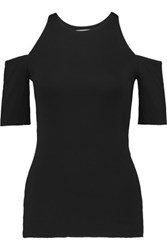 Bailey 44 Cutout Stretch Jersey Top Black