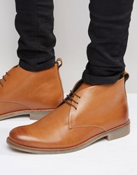 Lambretta Desert Boot In Tan Leather Tan