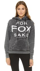 Wildfox Couture For Fox Sake Hoodie Dirty Black