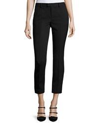 Red Valentino Mid Rise Skinny Ankle Trousers Black