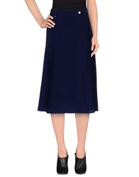 Veronique Branquinho 3 4 Length Skirts Dark Blue