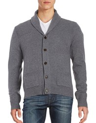 Brooks Brothers Wool Rich Cardigan Grey