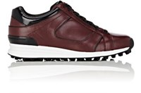 3.1 Phillip Lim Women's Trance Leather Low Top Sneakers Burgundy