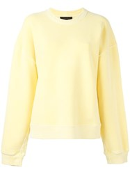 Yeezy Season 3 Crew Neck Sweatshirt Yellow Orange