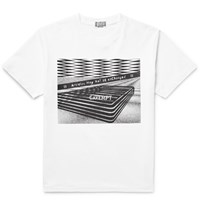 Cav Empt Sim Fit Printed Cotton Jersey T Shirt White