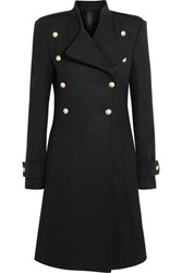 Gareth Pugh Double Breasted Wool Coat Black