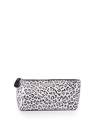 Saks Fifth Avenue Medium Leopard Print Cosmetics Bag
