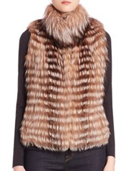 Michael Kors Fox Fur Vest Crystal