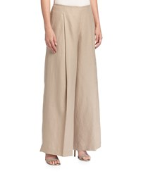 Lafayette 148 New York High Waist Wide Leg Linen Pants Soba