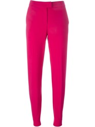 Armani Jeans High Waisted Trousers Pink And Purple