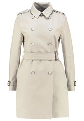 French Connection Trenchcoat Silver Stone Beige