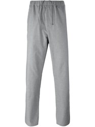 Oamc Elastic Waistband Trousers Grey