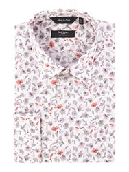 Paul Smith Large Floral Slim Fit Shirt Pink