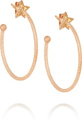 Carolina Bucci Shooting Star 18 Karat Rose Gold Sapphire Earrings
