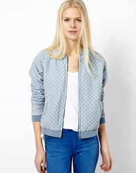 Esprit Quilted Bomber Blue