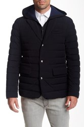 Mackage Drey Leather Trim Puff Blazer Black