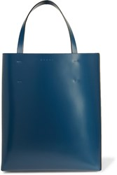 Marni Museo Two Tone Leather Tote Black