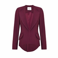 Hebe Studio The Suit Burgundy Girlfriend Blazer Neutrals