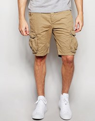 Only And Sons Cargo Shorts Stone Beige