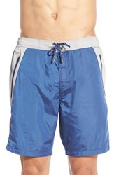 Men's Boss 'Prowfish' Stripe Swim Trunks