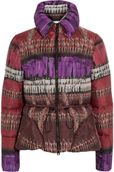 Peter Pilotto Cara Printed Quilted Shell Jacket Red