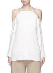 The Row 'Krauss' Cold Shoulder Top White