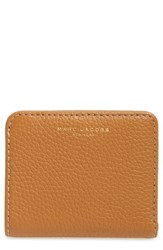Marc Jacobs Women's 'Gotham' Pebbled Leather Wallet Brown Maple Tan