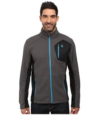 Spyder Bandit Full Zip Fleece Top Polar Black Electric Blue Men's Fleece