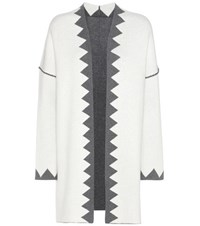 81 Hours Lotus Reversible Merino Wool Cardigan White