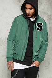 Forever 21 S Patch Bomber Jacket Green