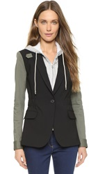 Veronica Beard Army Blazer Black Army
