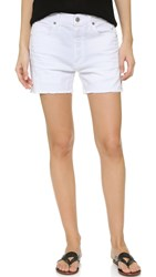 Citizens Of Humanity Corey Relaxed Shorts Distressed White