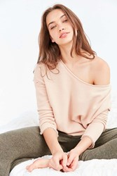 Truly Madly Deeply Liza Off The Shoulder Sweatshirt Pink
