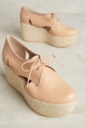 Anthropologie Kmb Cutout Platform Oxfords Honey 36 Euro Oxfords