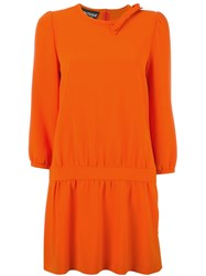 Boutique Moschino Gathered Detail Dress Yellow And Orange