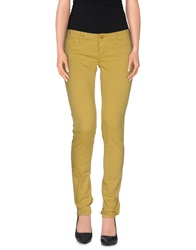 Camouflage Ar And J. Casual Pants Light Yellow