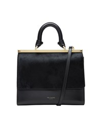 Ted Baker Luci Leather Top Handle Bag Black