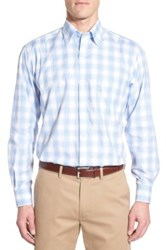 Tailorbyrd 'Plumbago' Regular Fit Plaid Sport Shirt Big And Tall Blue