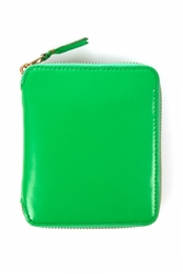 Comme Des Garcons Medium Zip Around Wallet Green Sa2100