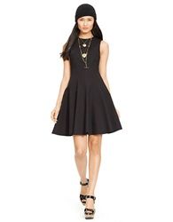 Polo Ralph Lauren Fit And Flare Cotton Dress Polo Black