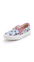 Markus Lupfer Printed Slip On Sneakers Pale Blue Sticker Print