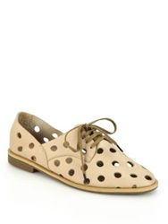 Rachel Comey Acker Perforated Leather Oxfords Black