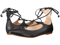 Massimo Matteo Ankle Strap Black Women's Flat Shoes