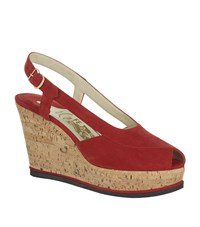 Salvatore Ferragamo Ida Peep Toe Wedge Female
