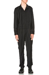 Engineered Garments Worsted Wool Flannel Coverall In Black