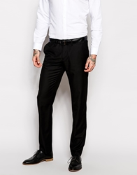 Sisley Slim Fit Suit Trousers In Black
