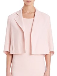 Akris Emma Short Wool Crepe Jacket Flamingo